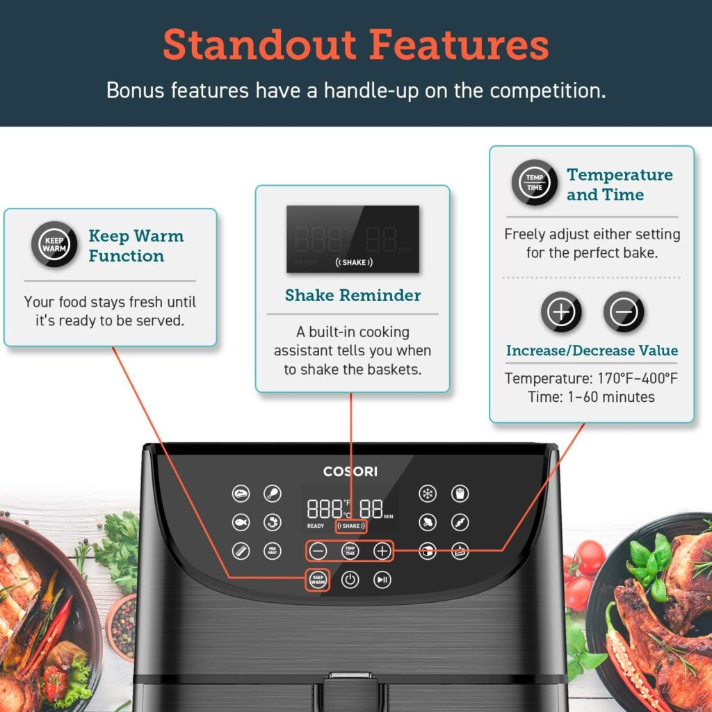 Cosori Air Fryer Features