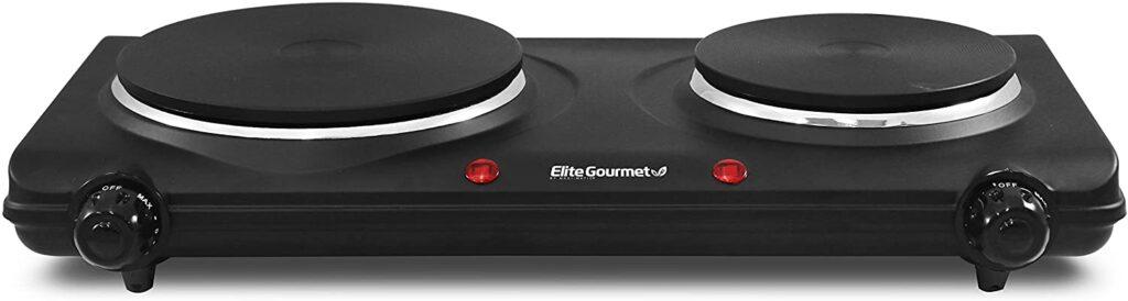elite gourmet electric double buffet burner
