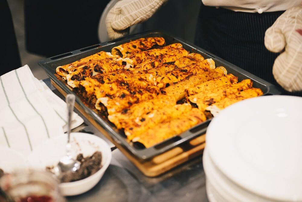 Reheat Enchiladas using a Toaster Oven